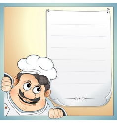 chef with menu vector image vector image