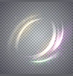 circular flare light effect vector image