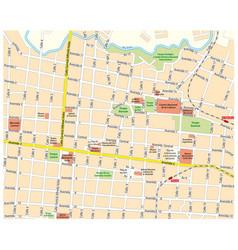 City map downtown san jose costa rica vector