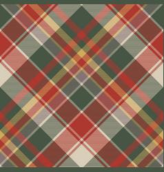 classic check tartan diagonal seamless fabric vector image vector image