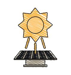 Color crayon stripe image solar energy panel vector
