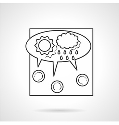 Crowdsourcing line icon vector