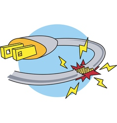 Electric Power Hazard vector