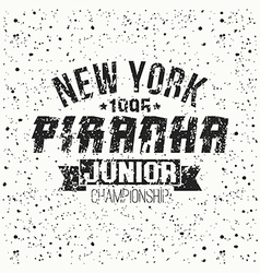 Emblem junior sport team from New York vector