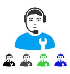 Enjoy call center serviceman icon vector