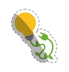 Environment bulb plug electricity vector