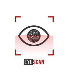Eye scan iconeye scanner biometric recognition vector