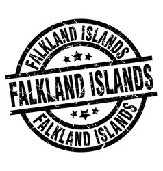 Falkland islands black round grunge stamp vector