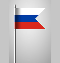 flag of russia national flag on flagpole vector image