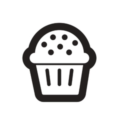 Flat icon in black and white cake vector
