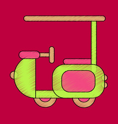 Flat shading style icon golf machine vector