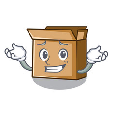Grinning cardboard in a character shape vector