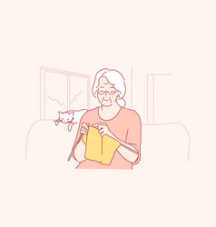 Hobby knitting leisure concept vector