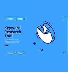 keyword research tool banner with isometric chart vector image