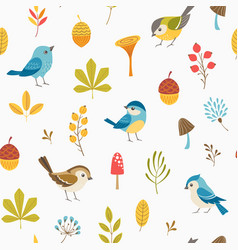 Llittle forest pattern vector