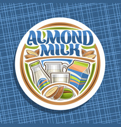 logo for almond milk vector image