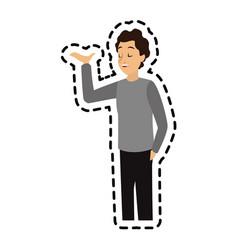 Man talking icon image vector
