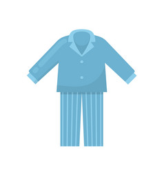 Mens pajamas nightgown sleeping shirt home vector