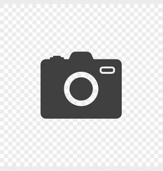 minimalistic camera icon on a transparent vector image