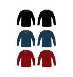 mockup shirts plain length vector image