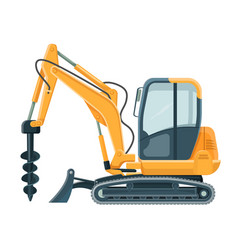 modern powerful drilling machine with big sharp vector image