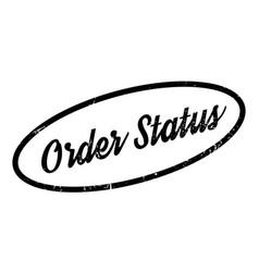 Order status rubber stamp vector