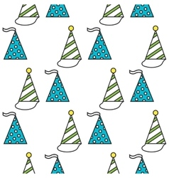 Party hats Seamless festive pattern vector