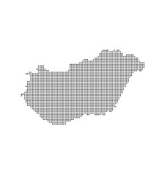 pixel map of hungary dotted map of hungary vector image