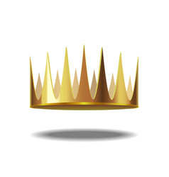 realistic detailed 3d golden crown vector image