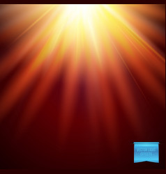 realistic fiery sunburst effect with rays vector image