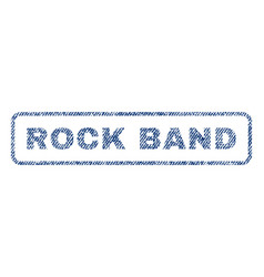 Rock band textile stamp vector