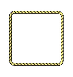rope frame square vector image