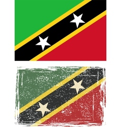 Saint Kitts and Nevis grunge flag vector image