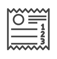 sales receipt thin line icon vector image