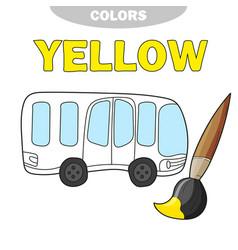 school bus coloring page back to school concept vector image