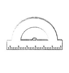 School protractor tool vector
