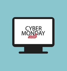 screensaver on computer cyber monday sale flat vector image