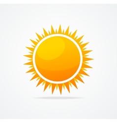 set glossy sun vector image