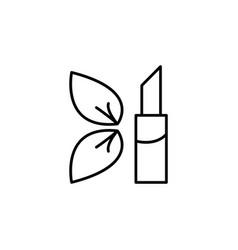 simple icon lipstick black vector image