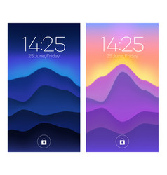 Smartphone lock screen mobile phone onboard pages vector
