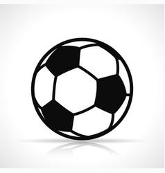 Soccer ball black icon vector