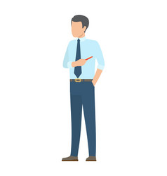 Startup poster male businessman in ties pointer vector