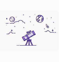 telescope line vector image