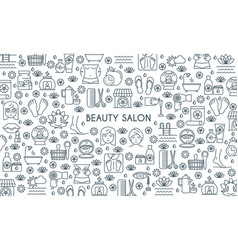 thin line design beauty banner vector image