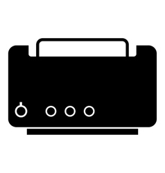Toaster icon simple style vector
