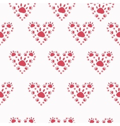 Trace a pet in the shape of a heart vector image