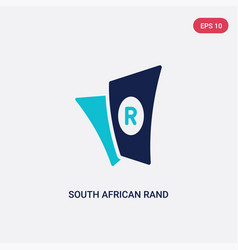 Two color south african rand icon from africa vector