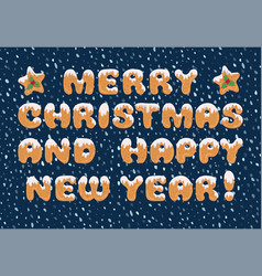 typography christmas greeting card in cartoon vector image