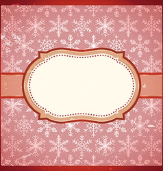 Vintage frame with snowflakes vector image