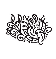 vintage scandinavian monoline flourish monogram vector image